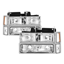 Load image into Gallery viewer, Xtune Chevy Suburban 94-98 Headlights w/ Corner & Parking Lights 8pcs Chrome HD-JH-CCK88-AM-C-SET