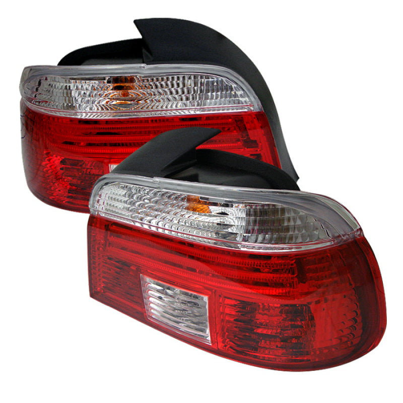 Xtune Bmw E39 5-Series 97-00 Tail Light Red Clear ALT-CI-BE3997-RC