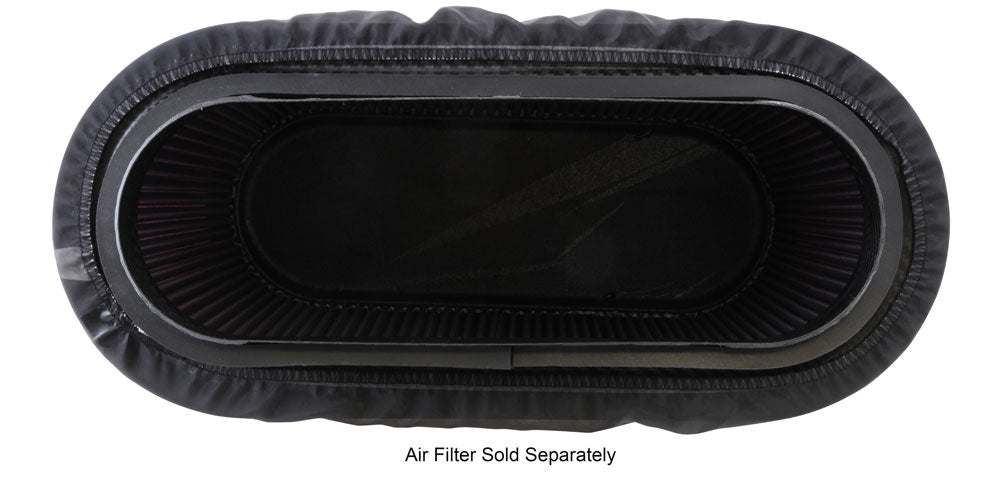 K&N Air Filter Wrap - Black - 4.313in Base ID x 4.75in Top ID x 6.75in H