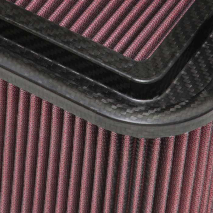 K&N Custom Racing Assembly 19in x 6.5in Carbon Fiber Air Filter