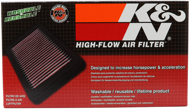 K&N Replacement Air Filter Citroen/Peugeot/Fiat/Mini Cooper 9.875in O/S L x 5.25in O/S W x 1.125in H