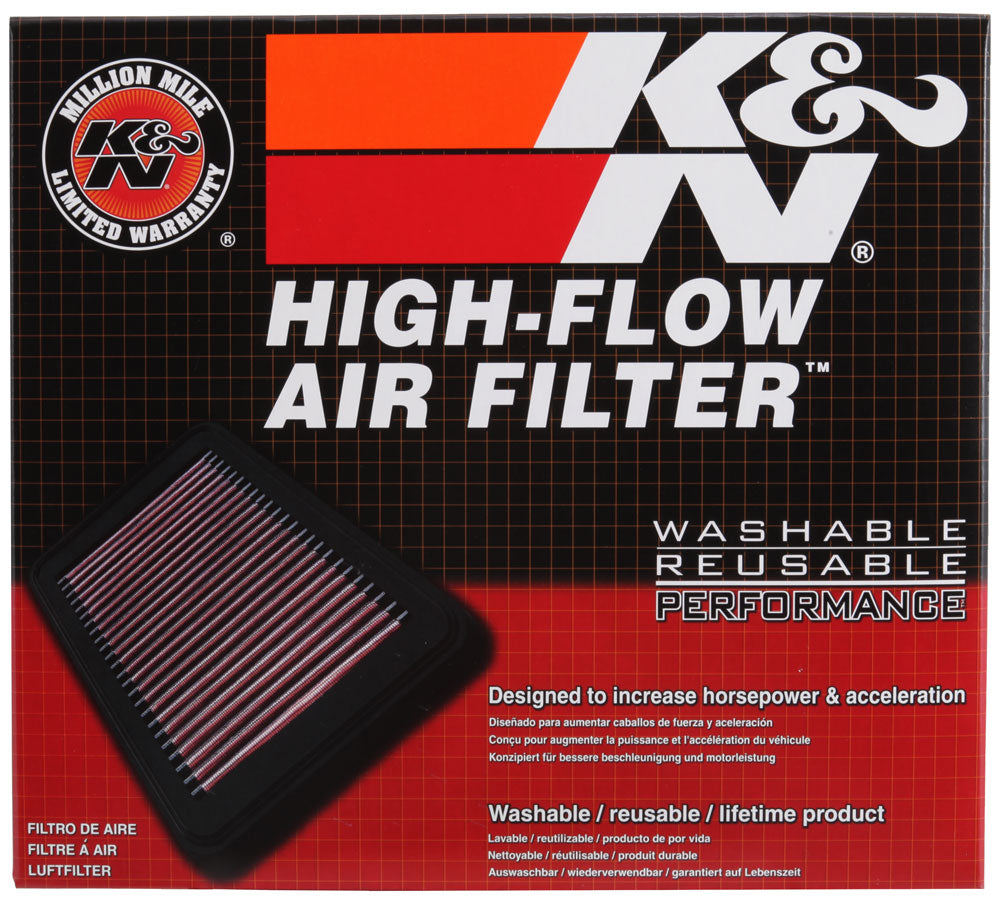 K&N 2017 Nissan Titan V8-5.6L F/I Drop In Replacement Air Filter