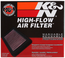 Load image into Gallery viewer, K&N Replacement Air Filter for Fiat / Opel / Vauxhall / Alfa Romeo 8in O/S L x 8.313in O/S W x 1in H