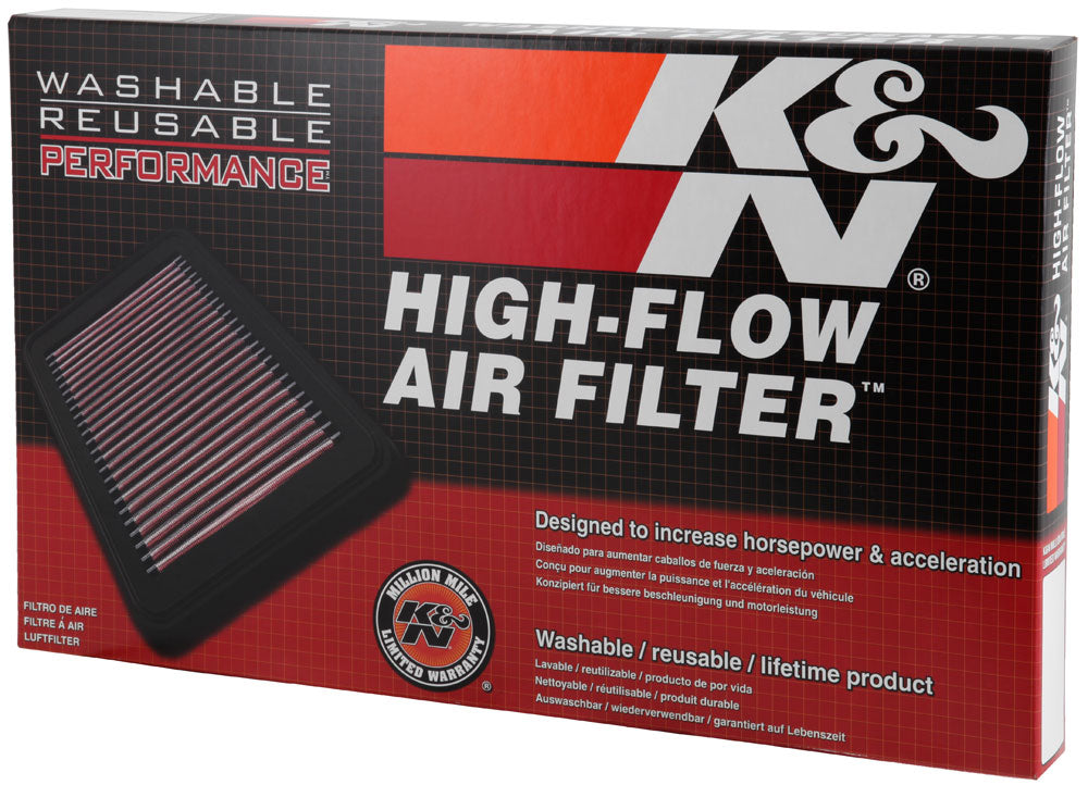 K&N 01-07 Mitsubishi Montero / 00-10 Pajero Drop In Air Filter