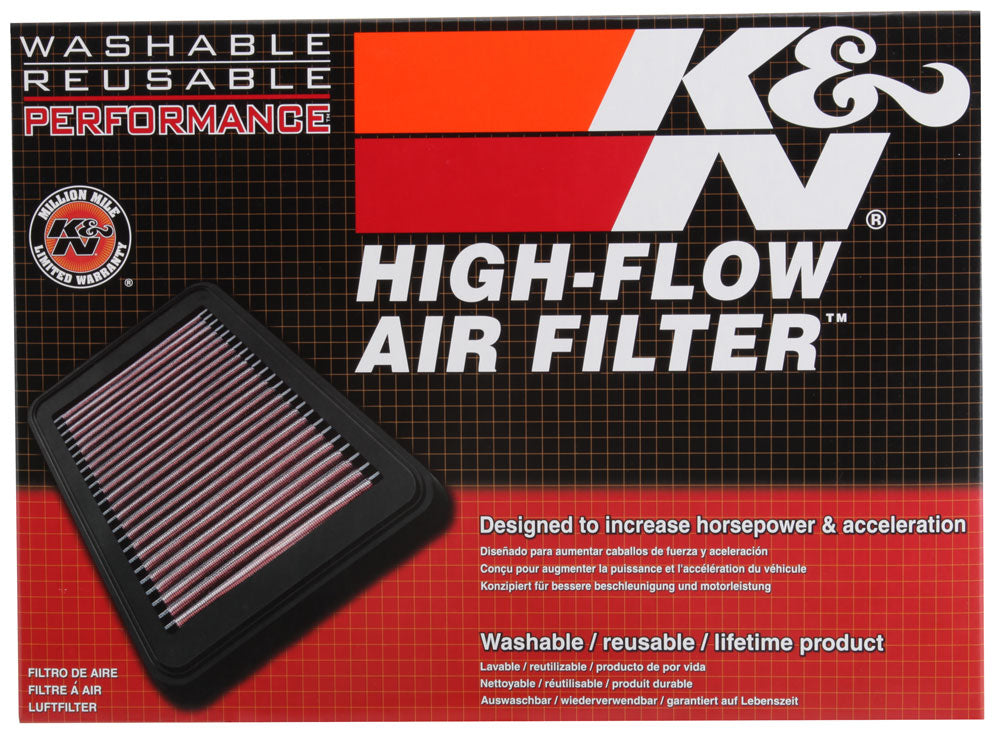 K&N Replacement Air Filter for Opel / Vauxhall / Saab 11.375in O/S L x 10.125in O/S W x 1.625in H