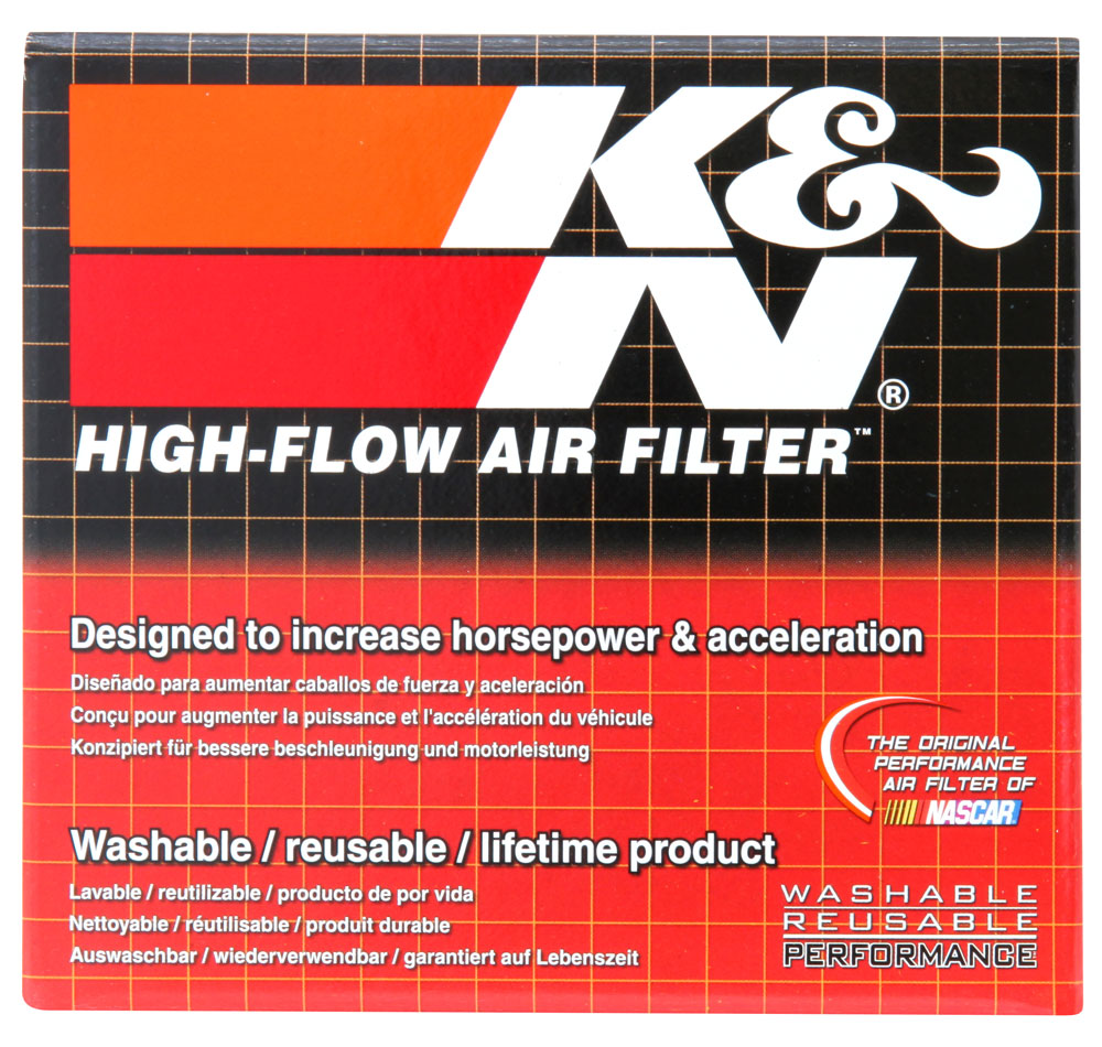 K&N Universal Rubber Filter Round Tapered 3in Base OD x 2in Top OD x 3in H