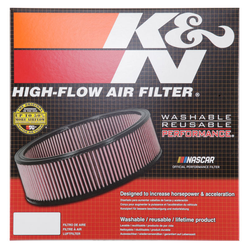 K&N Round Air Filter 14in OD / 12in ID / 2.313in Height