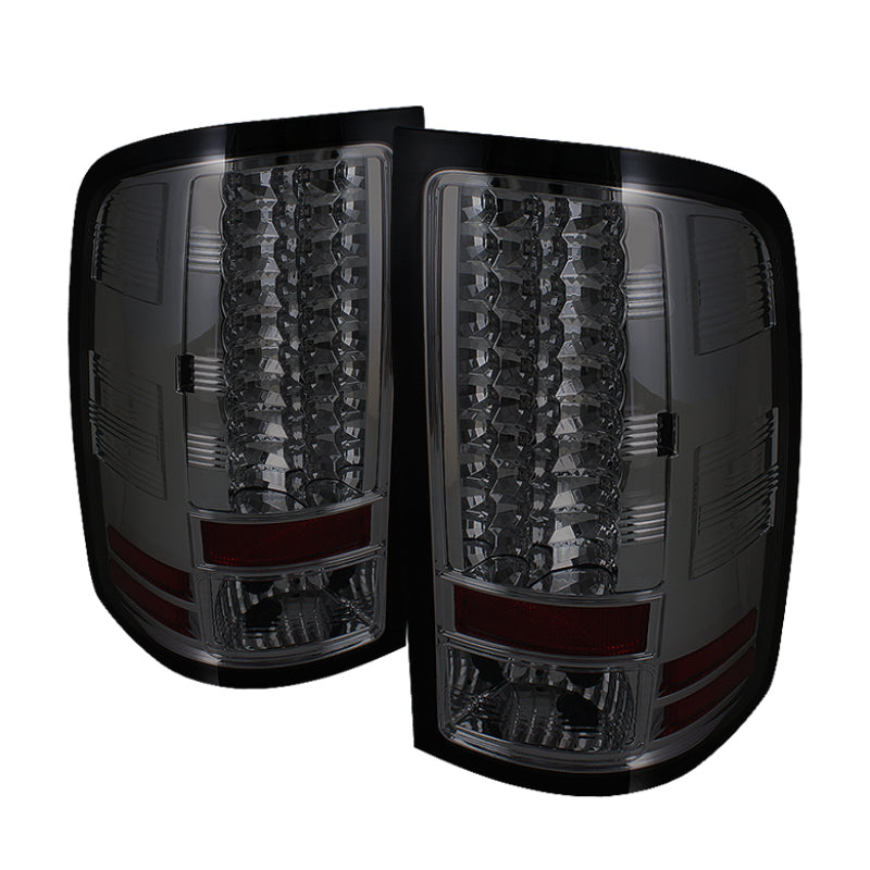 Spyder GMC Sierra 07-13 (Not fit 3500 Dually 4 Rear Wheels)LED Tail Lights Smoke ALT-YD-GS07-LED-SM