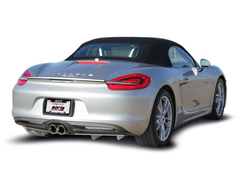 Borla 14-15 Porsche Cayman/Boxster (981) RWD 2Dr Dual Center Rear Exit Catback 4in Tip Exhaust Sys