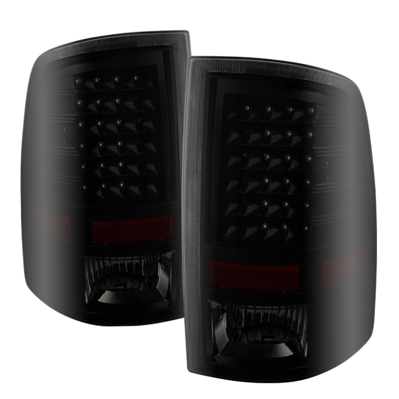 Xtune Dodge Ram 1500 09-14 LED Tail Lights Incandescent Model Only Black Smoke ALT-JH-DR09-LED-BKSM
