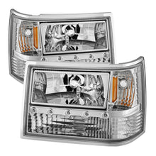 Load image into Gallery viewer, Xtune Jeep Grand Cherokee 93-98 1Pc Crystal Headlights Chrome HD-ON-JGC93-1PC-LED-C