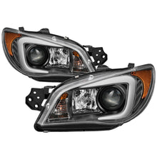 Load image into Gallery viewer, Spyder Subaru WRX 2006-2007 Projector Headlights - Halogen Only - Black PRO-YD-SWRX06-LBDRL-BK