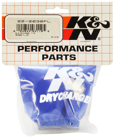 K&N 92-95 Polaris SL 650/93-95 SL 750/94-95 SLT 750 Blue Round Tapered Drycharger Air Filter Wrap
