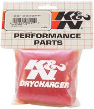 Load image into Gallery viewer, K&N Red Drycharger 5.25in x 3in Round Tapered Air Filter Wrap