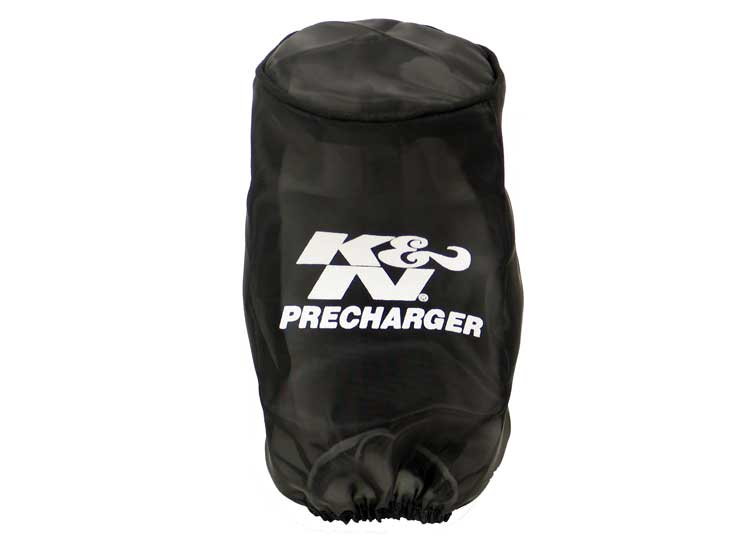K&N Universal Precharger Round Straight Air Filter Wrap Black