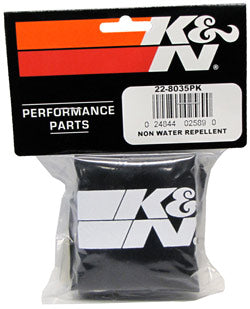 K&N Universal Precharger Round Tapered Air Filter Wrap Black