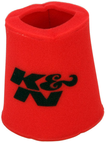 K&N Airforce PreCleaner Round Tapered Red Air Filter Foam Wrap 6in Base ID x 5in Top ID x 9in H
