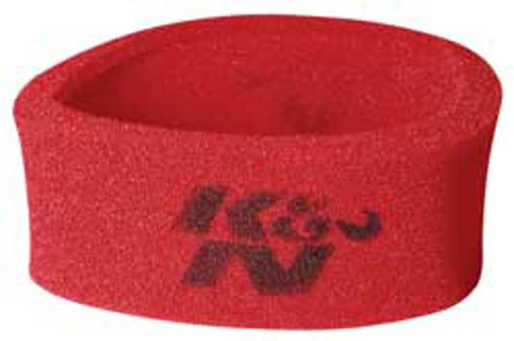 K&N Universal Airforce PreCleaner Air Filter Foam Wrap - Round Straight - Red
