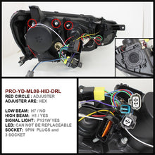 Load image into Gallery viewer, Spyder Mitsubishi Lancer/EVO-10 08-14 Projector Xenon/HID- LED Halo DRL Blk PRO-YD-ML08-HID-DRL-BK