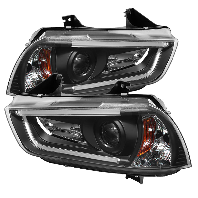 Spyder Dodge Charger 11-14 Projector Headlights Xenon/HID- Light DRL Blk PRO-YD-DCH11-LTDRL-HID-BK