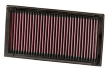 Load image into Gallery viewer, K&N Replacement Air Filter Citroen/Peugeot/Fiat/Mini Cooper 9.875in O/S L x 5.25in O/S W x 1.125in H