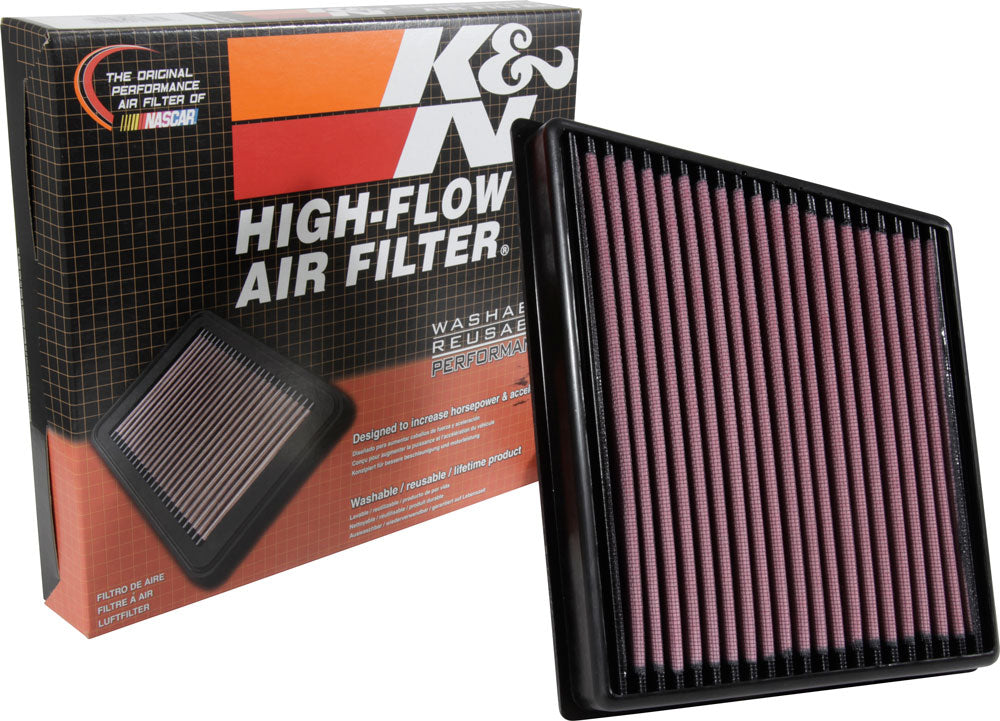 K&N 2015 Jaguar F-Pace V6-3.0L F/I Right Side Replacement Drop In Air Filter