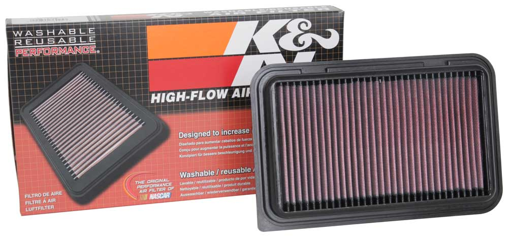 K&N 2017 Suzuki Swift V L3-1.2L F/I Replacement Drop In Air Filter