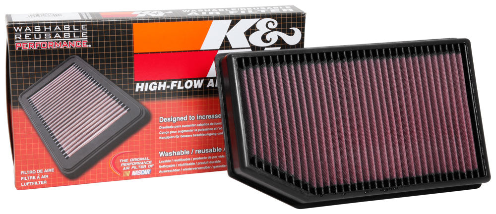 K&N 2018 Jeep Wrangler JL 2.0L/3.6L F/I Drop In Air Filter