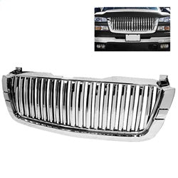 Xtune Chevy Silverado 03-06 Center Only Front Grille Chrome GRI-SP-CS03-CT-C