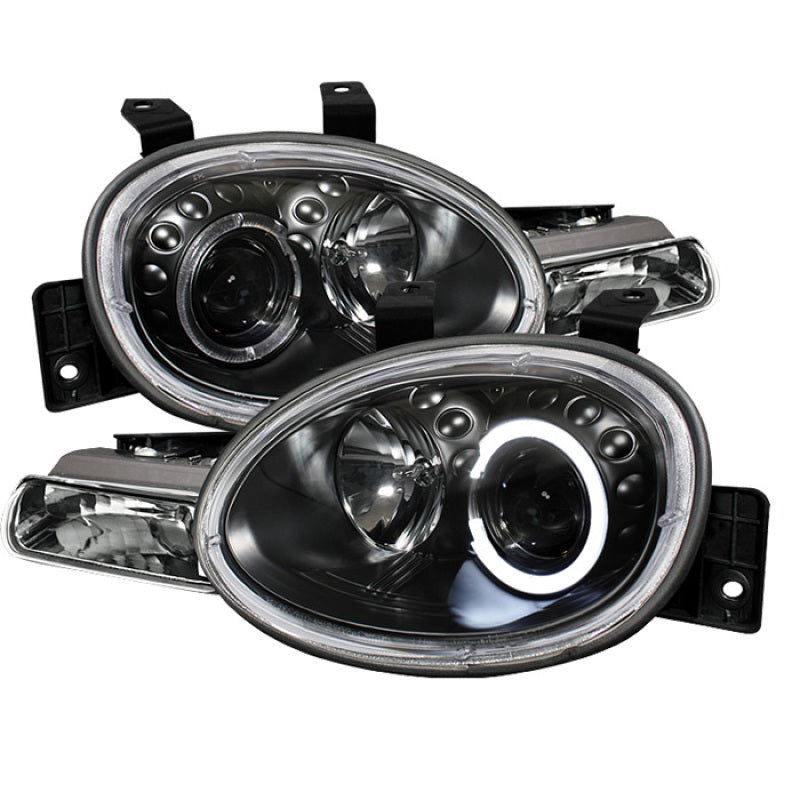 Spyder Dodge Neon 95-99/Plymouth Neon 95-99 Projector Headlights LED Halo Blk PRO-YD-DN95-HL-BK