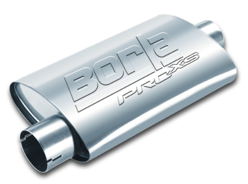 Borla Universal Center/Offset Oval 2.25in Tubing 14in x 4in x 9.5in PRO-XS Notched Muffler