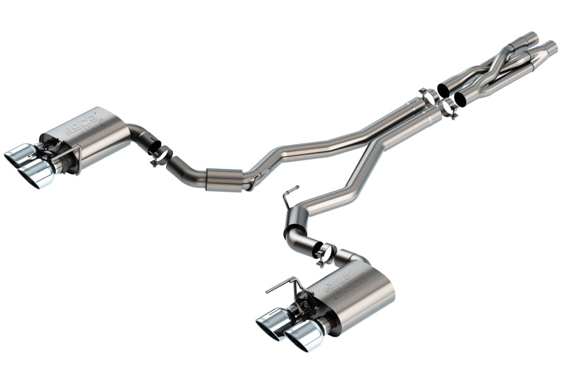 Borla 2020 Ford GT500 5.2L AT 3in ATAK CatBack Exhaust w/ Chrome Tips