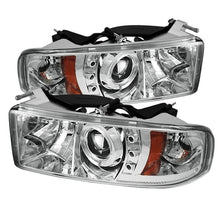 Load image into Gallery viewer, Spyder Dodge Ram 1500 94-01 94-02 Projector Headlights LED Halo LED Chrm PRO-YD-DR94-HL-AM-C
