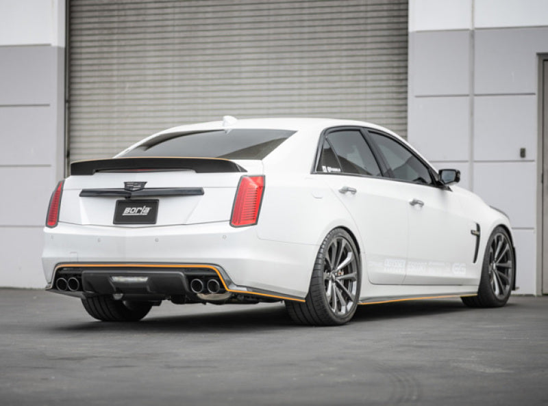 Borla 16-18 Cadillac CTS-V 6.2L V8 2.75in Diameter S Type Catback Exhaust w/ Valves Black Chrome Tip