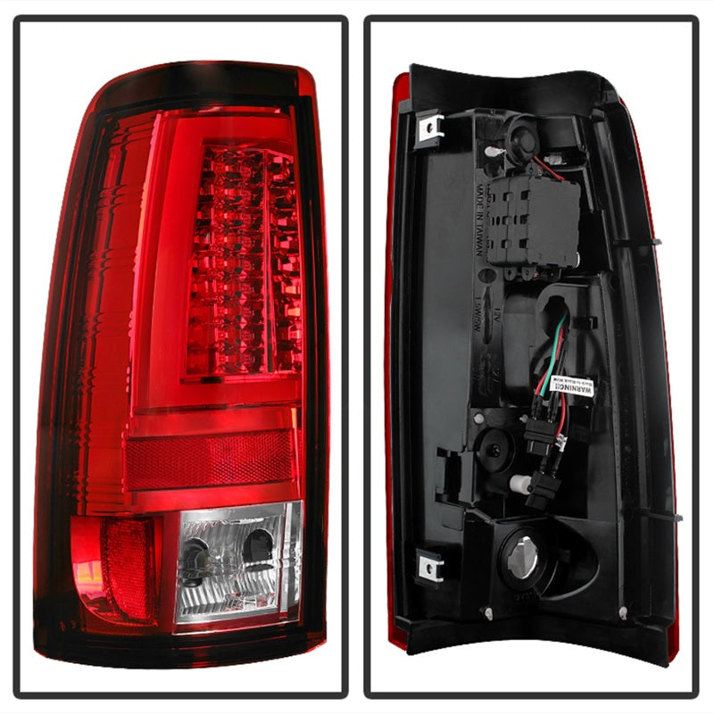 Spyder Chevy Silverado 1500/2500 99-02 Version 2 LED Tail Lights - Red Clear ALT-YD-CS99V2-LED-RC