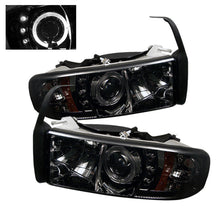 Load image into Gallery viewer, Spyder Dodge Ram 1500 94-01 94-02 Projector Headlights LED Halo LED Smke PRO-YD-DR94-HL-AM-SMC