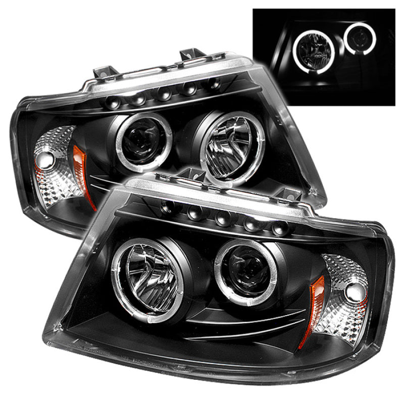 Spyder Ford Expedition 03-06 Projector Headlights LED Halo LED Blk (Not Included) PRO-YD-FE03-HL-BK