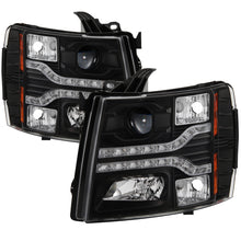 Load image into Gallery viewer, Spyder Chevy Silverado 1500 07-13 V2 Projector Headlights - LED DRL - Black PRO-YD-CS07V2-DRL-BK