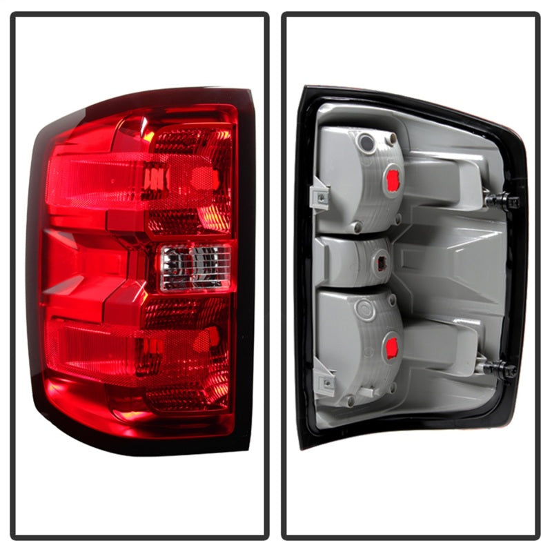Xtune Chevy Silverado 2014-2016 Driver Side Tail Lights - OEM Left ALT-JH-CS14-OE-L