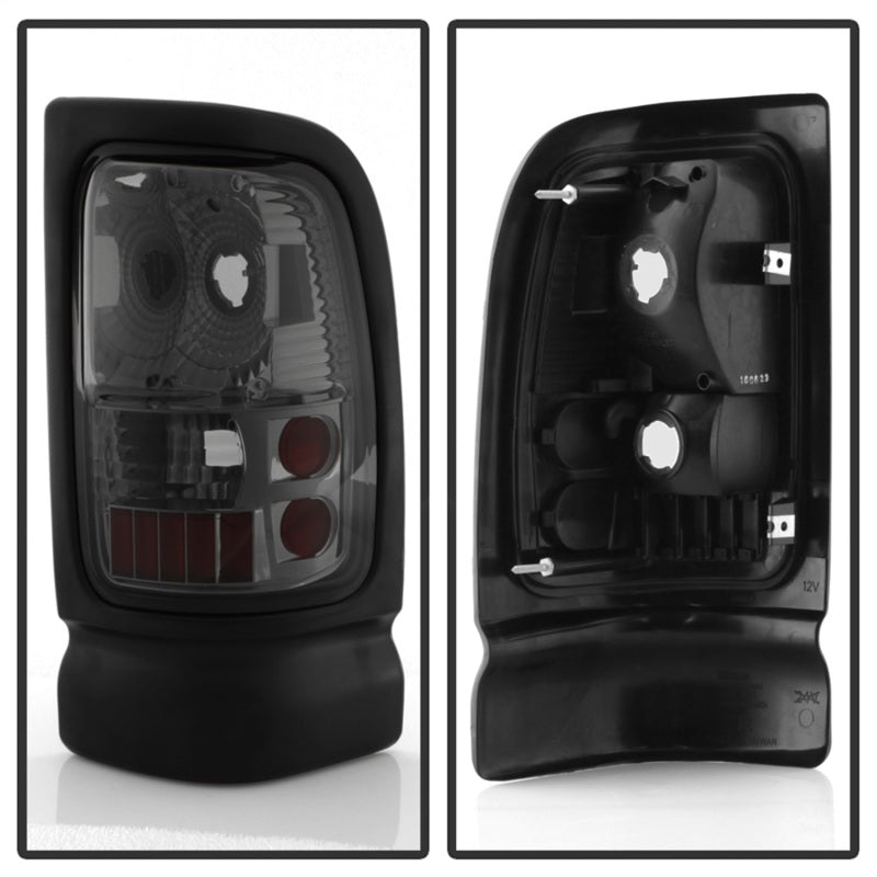 Xtune Dodge Ram 1500/2500/3500 94-01 Euro Style Tail Lights Smoke ALT-ON-DRAM94-SM