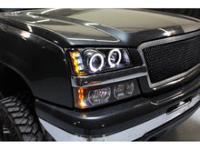 Load image into Gallery viewer, Spyder Chevy Silverado 1500 03-06 Projector LED Halo LED Amber Reflctr Blk PRO-YD-CS03-AM-BK