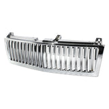 Xtune Chevy Silverado 1500/2500/3500 99-02 Vertical Front Grille Chrome GRI-SP-CS99-CT-V-C