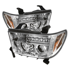 Load image into Gallery viewer, Spyder Toyota Tundra 07-13 Projector Headlights CCFL Halo LED Chrm PRO-YD-TTU07-CCFL-C
