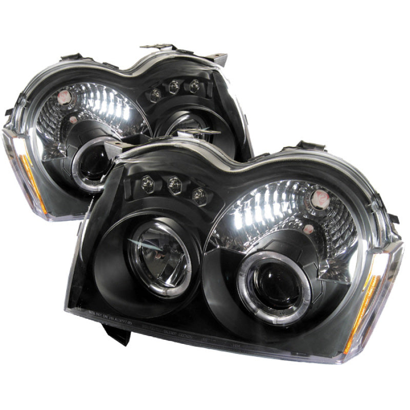 Spyder Jeep Grand Cherokee 05-07 Projector Headlights LED Halo LED Blk Low 9006 PRO-YD-JGC05-HL-BK