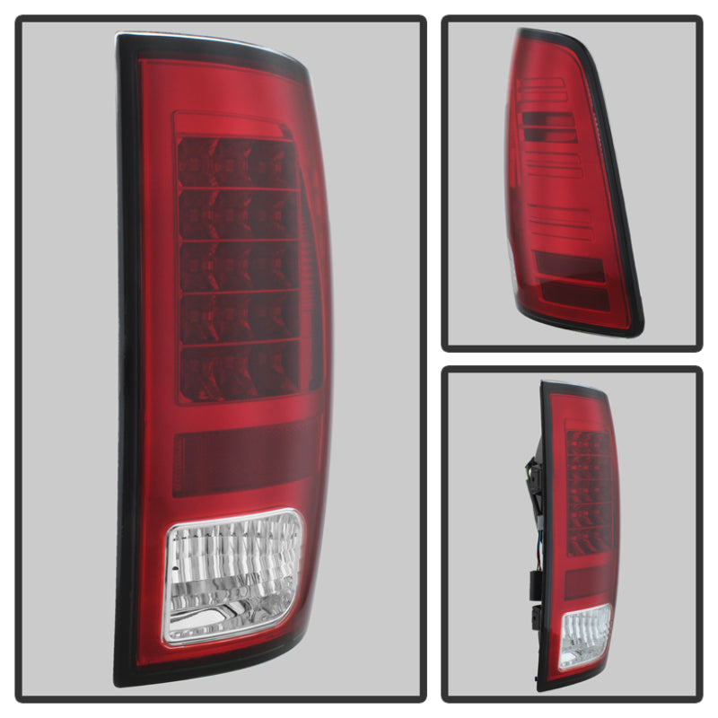 Spyder Dodge Ram 1500 13-14 13-14 LED Tail Lights LED Model only - Red Clear ALT-YD-DRAM13-LED-RC