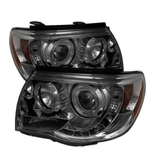 Load image into Gallery viewer, Spyder Toyota Tacoma 05-11 Projector Headlights LED Halo LED Smoke High H1 Low H1 PRO-YD-TT05-HL-SM