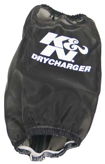 K&N DrychargerAir Filter Wrap - Black - Round Straight - 3.25in ID x 7.063in H