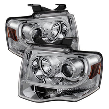 Load image into Gallery viewer, Spyder Ford Expedition 07-13 Projector Headlights Light Tube DRL Chrm PRO-YD-FE07-LTDRL-C