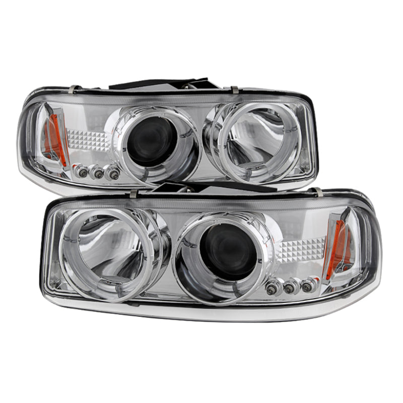 Spyder GMC Sierra 1500/2500/3500 99-06 Projector Headlights LED Halo LED Chrome PRO-YD-CDE00-HL-C