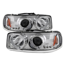 Load image into Gallery viewer, Spyder GMC Sierra 1500/2500/3500 99-06 Projector Headlights LED Halo LED Chrome PRO-YD-CDE00-HL-C